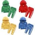 2016 autumn baby boy sport clothing sets children's  clothing  Kids Boy Zipper Clothes Set Girl & Boy Tops + Pants Sets
