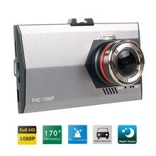 Mini coche dvr cámara auto dvr dashcam aparcamiento grabadora de vídeo registrator videocámara full hd 1080 p de visión nocturna negro caja dash cam