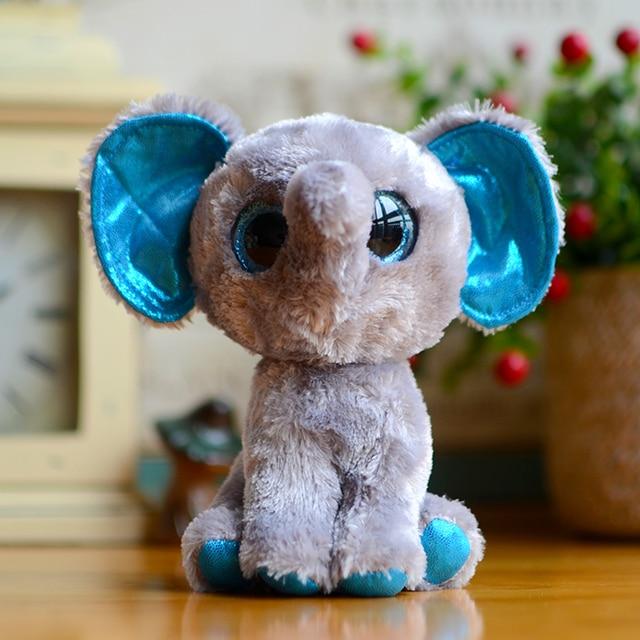 7b9f0d6ca69 Beanie Boos Kids Plush Toys Ty Big Eyes Elfie Grey Elephant Girl Boys Gifts  Kawaii Stuffed Animals Dolls Cute Christmas Present