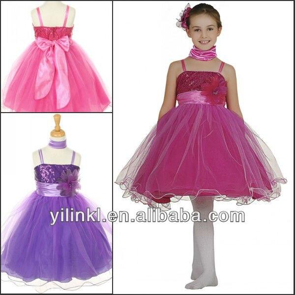 Excepcional Vestidos De Fiesta De Lujo Para Las Niñas Ornamento ...