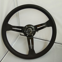 2015 Selling 14 Inch Sport Nd Universal PU Steering Wheel Racing 35CM Black Gold Blue Optional