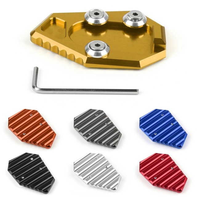 Areyourshop  For Honda CB1000R 2008-2013  Moto Side Stand Kickstand Plate Pad  Black Gold Red Silver Blue Gray Orange