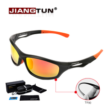 JIANGTUN Flexible TR90 Sport Sunglasses Men Polarized Brand Designer UV400 Protection Sun Glasses Outdoor Cool Goggles Oculos