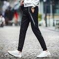 2016 весной и осенью новая мода мужская повседневная брюки Лучшие качества Марка одежды штаны прямой мужской брюки мужчины марка