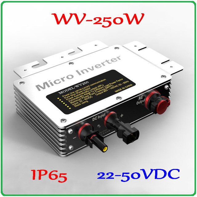 250W Grid Tie Inverter 22-50VDC to AC80-160V or 180-260VAC Pure Sine Wave Output on grid inverter for 200-300W PV Solar Panel