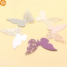 New Arrical!20PCS Lovely Butterfly Wine Glass Cup Paper Card For Wedding Party/Table Decoration/Home Decor Name Place Cards(China)
