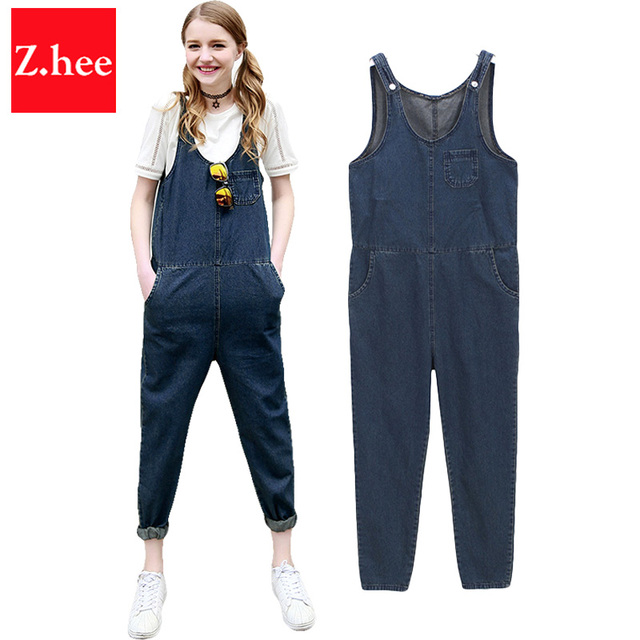 5de7948bf0 Classic Thin Denim Overall Jeans Women jumpsuit Tight High Waist Denim  Overall jumpsuit For Women Overall