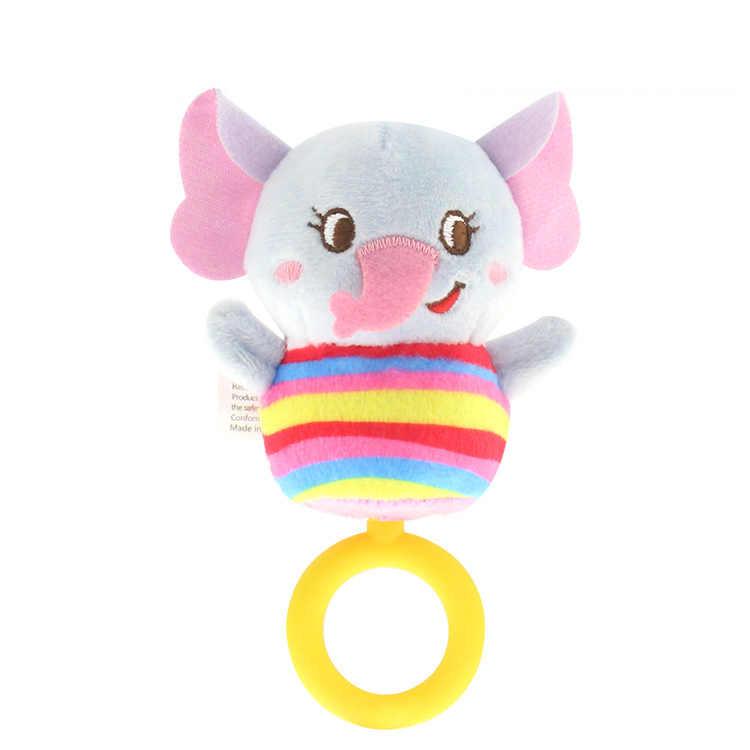 เด็กทารกทารกแรกเกิด Plush Rattle ของเล่นจับมือ Teethers น่ารักตุ๊กตาสัตว์แหวน Handbell การศึกษาเด็กของขวัญ