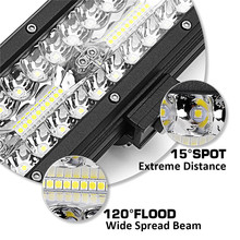 1Pcs 9 Inch 60LEDs Work Light Bar 180W led Flood Spot Combo  6000K LED Work Light For SUV ATV Offroad 4WD Car Truck Driving Lamp