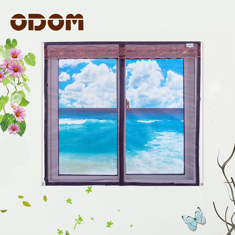 ODOM Window Screen Door Magnetic Anti-mosquito Window Screen High quality summer mute mosquito screen 3colors