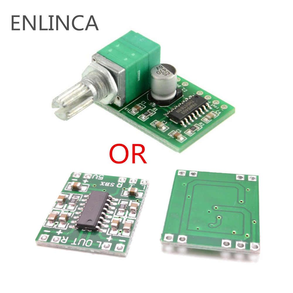 1-5 pièces Super mini carte amplificateur numérique 2*3W PAM8403 classe D efficace 2.5 à 5V USB avec et sans potentiomètre de commutation