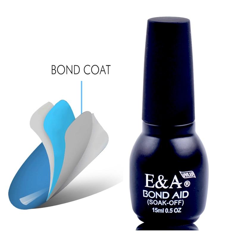 E&A, Base de gel de larga duración para uñas, remojo de - Arte de uñas