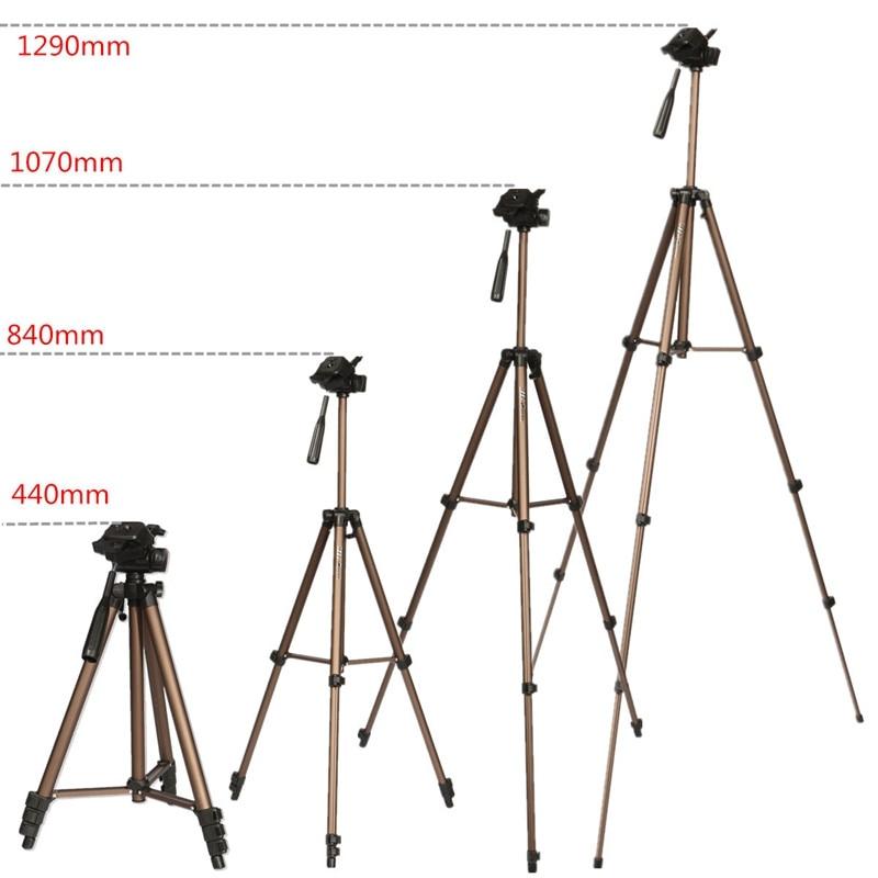 WT3130 aluminium-legierung Kamera Stativ mit Kipphebel für Canon für Nikon Für Sony DSLR Kamera Camcorder Last bis zu 2,5 kg