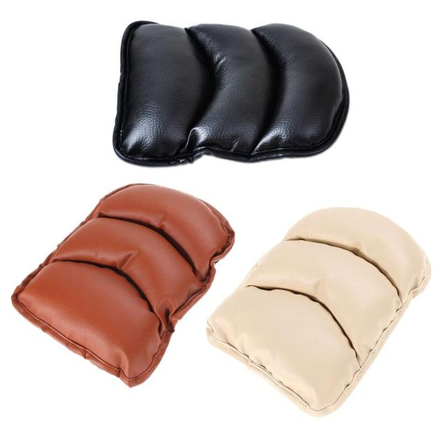Universal Car PU Leather Soft Central Armrest Console Box Pad Cover Cushion Armrest Seat Protective Pad Mat Auto Accessories