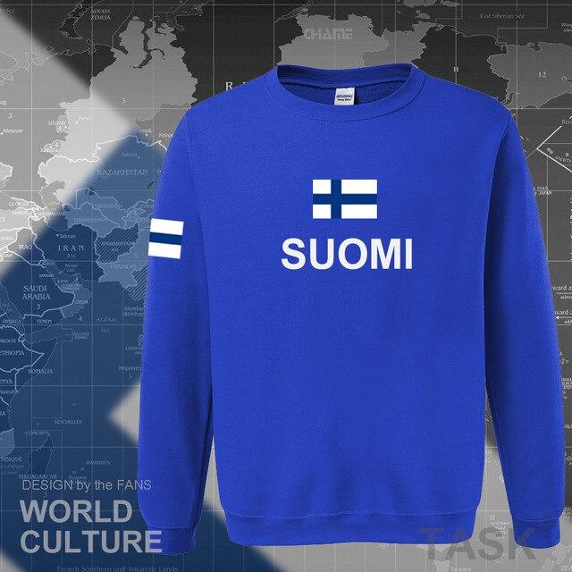 Sudaderas de Finlandia para hombre, ropa informal estilo hip hop, camisetas, chándal de jugador de fútbol, nación finlandesa, bandera Finn FI