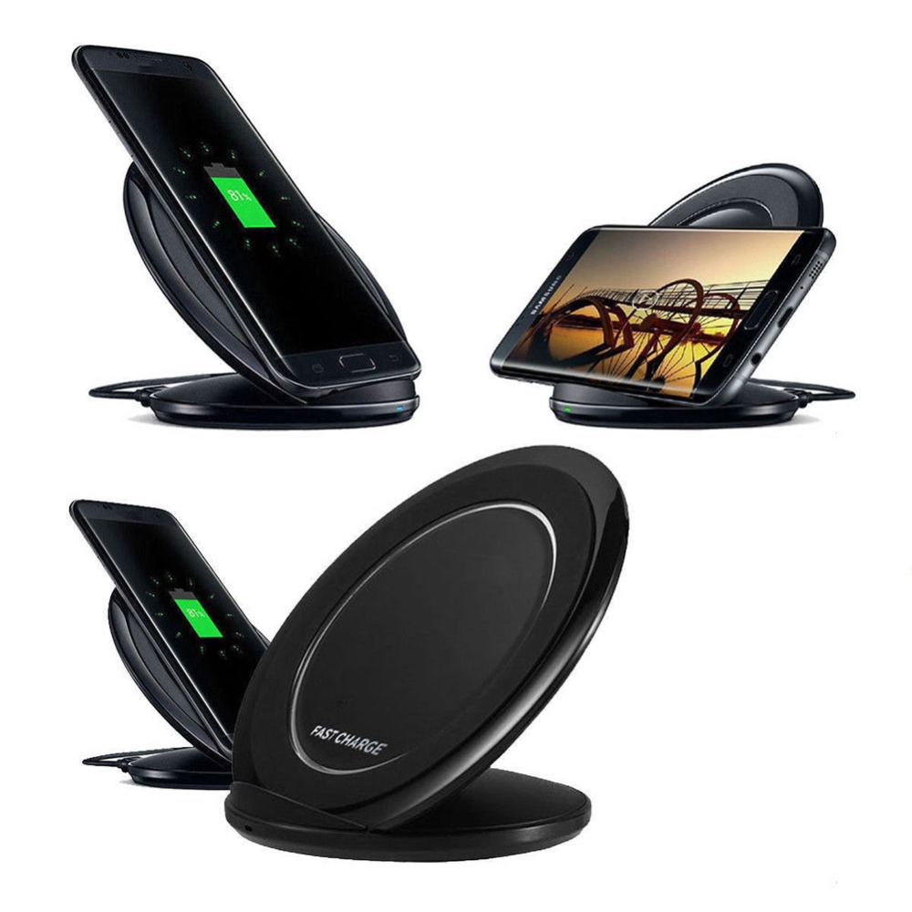 Qi Wireless Fast Charger Charging Pad Stand Dock for Samsung Galaxy Note 8 S8 S7 #267150Qi Wireless Fast Charger Charging Pad Stand Dock for Samsung Galaxy Note 8 S8 S7 #267150