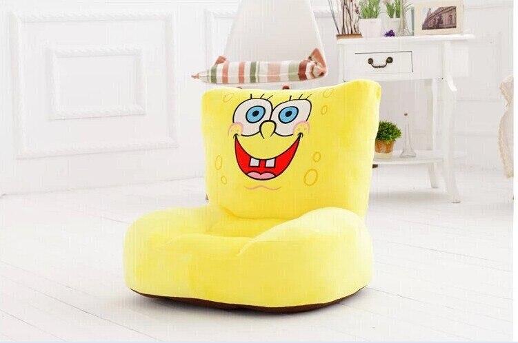 Belle peluche sourire bob l'éponge canapé jouet le dessin animé créatif bob l'éponge canapé poupée cadeau d'anniversaire à propos de 54x30x10cm