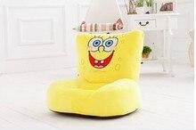 lovely plush smile Spongebob sofa toy the creative cartoon Spongebob  sofa doll birthday gift about 54x30x10cm