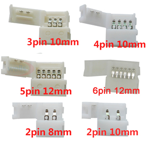 5~1000pcs 2pin 3pin 4pin 5pin 6pin led connector Clip, for 5050 3528 3014 WS2812b LED single color/ RGB RGBW RGBWW Strip light(China)