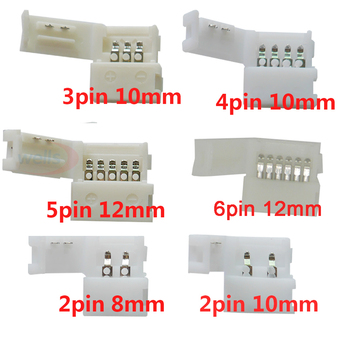 цена на 5~1000pcs 2pin 3pin 4pin 5pin 6pin led connector Clip, for 5050 3528 3014  WS2812b LED single color/ RGB RGBW RGBWW Strip light