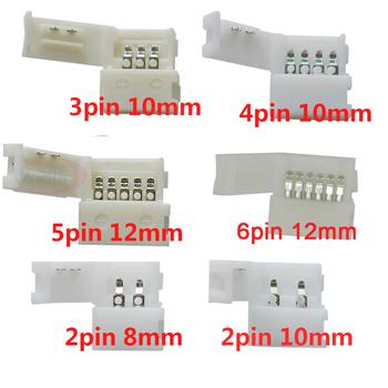 5 ~ 1000 sztuk 2pin 3pin 4pin 5pin 6pin led mocowanie złącza dla 5050 3528 3014 WS2812b LED pojedynczy kolor RGB RGBW RGBWW taśmy światła tanie i dobre opinie YJBCo 2pin 3pin 4pin 5pin 6pin connector