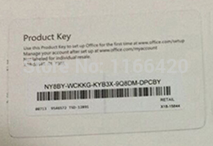 Office Home and Student 2013 PC Product Key Card on ...