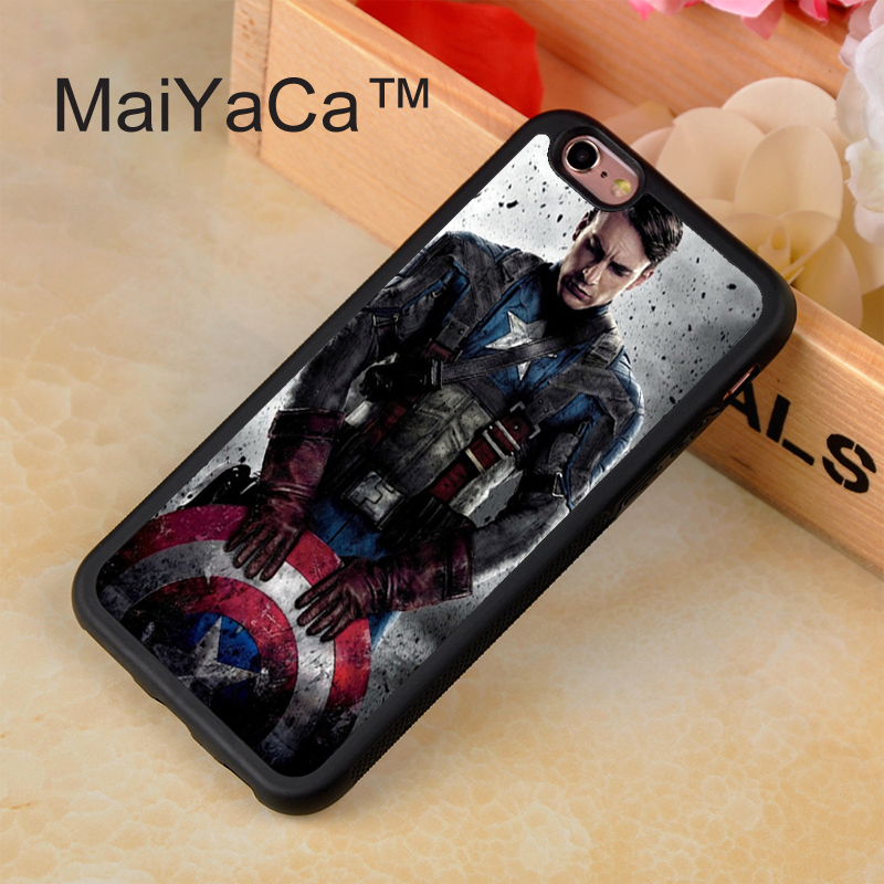 325_C01_W10025Top Selling Luxury Captain America Series PC Case Pattern Cover Dark Skin Shell case for iPhone 4 4s 5 5s 5c 6 6 Plus