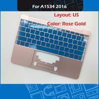 New Rose Gold Laptop A1534 Top Case US Layout For Macbook Retina 12 A1534 Palm Rest Early 2016 EMC 2991