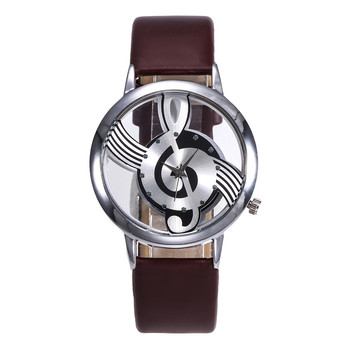 Ladies Designer Watches Luxury Watch Women 2019 Women Fashion Leather Stainless Steel Musical symbol watch Clock