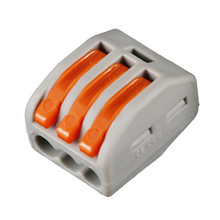 цена на 20pcs PCT-212 /222-413/PCT-215 Universal Compact Wire Wiring Connector 2/3/5 pin Conductor Terminal Block Lever