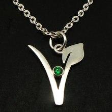 Vegan font b Necklace b font Vegetarian Symbol font b Necklace b font Pendant Gift for