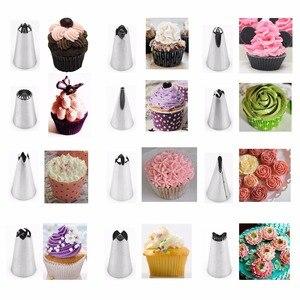 Image 5 - Poches de glaçage en Silicone pour pâtisserie crème, décorateurs de Dessert, buse de glaçage en acier inoxydable pour crème, outil de 14 pièces/ensemble