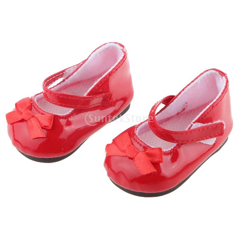 Кукла аксессуар Модные красные туфли для American Girl Doll