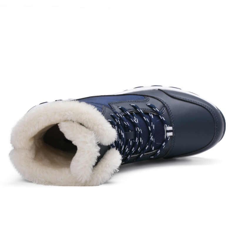 STQ 2019 kış kadın kar botları orta buzağı Platform yarım çizmeler kadınlar yüksek sıcak kürk peluş yağmur çizmeleri kadınlar için yürüyüş botları 1617