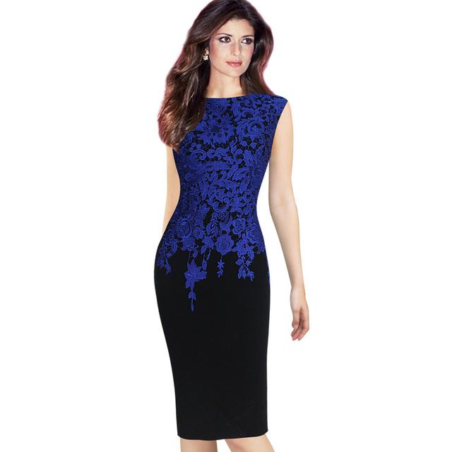 Mulheres Elegante Do Vintage Floral Crochet Bodycon Lápis Vestido Charme Pinup Casual Escritório Trabalho Prom Evening Party Dress Plus Size