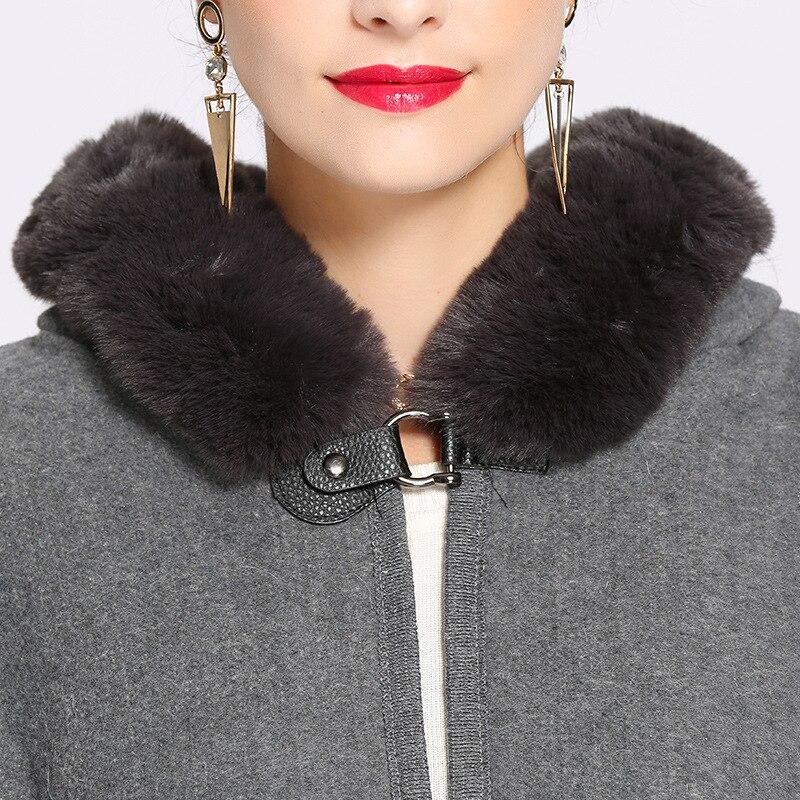 RUNMAIFA design high quality imitation fox fur winter scarf for women luxury brand warm Poncho scarf scarves striped shawl