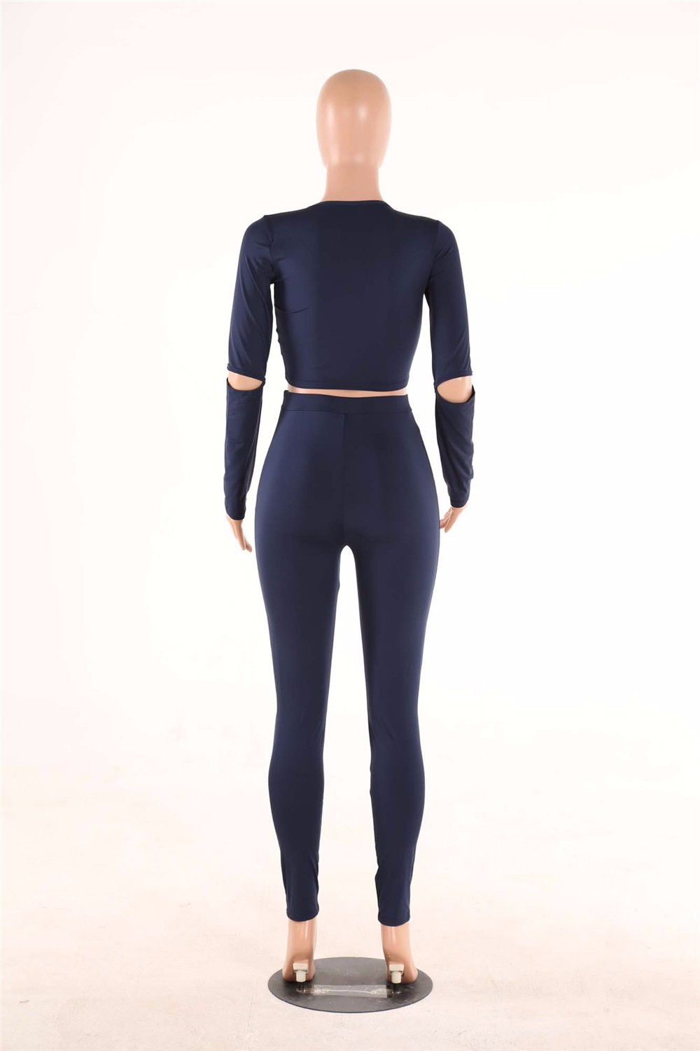 Sexy Two pieces Rompers Women Jumpsuit 2017 New Women Bodycon Jumpsuit O Neck Long Sleeve Fashion Club Bodysuit Bandage Jumpsuit 19