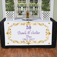 Personalized Gold 50 Wedding Anniversary Casamento Decoracao Manteles Para Mesa Parents Festa de 50 Anos DecoratioTable Cloth