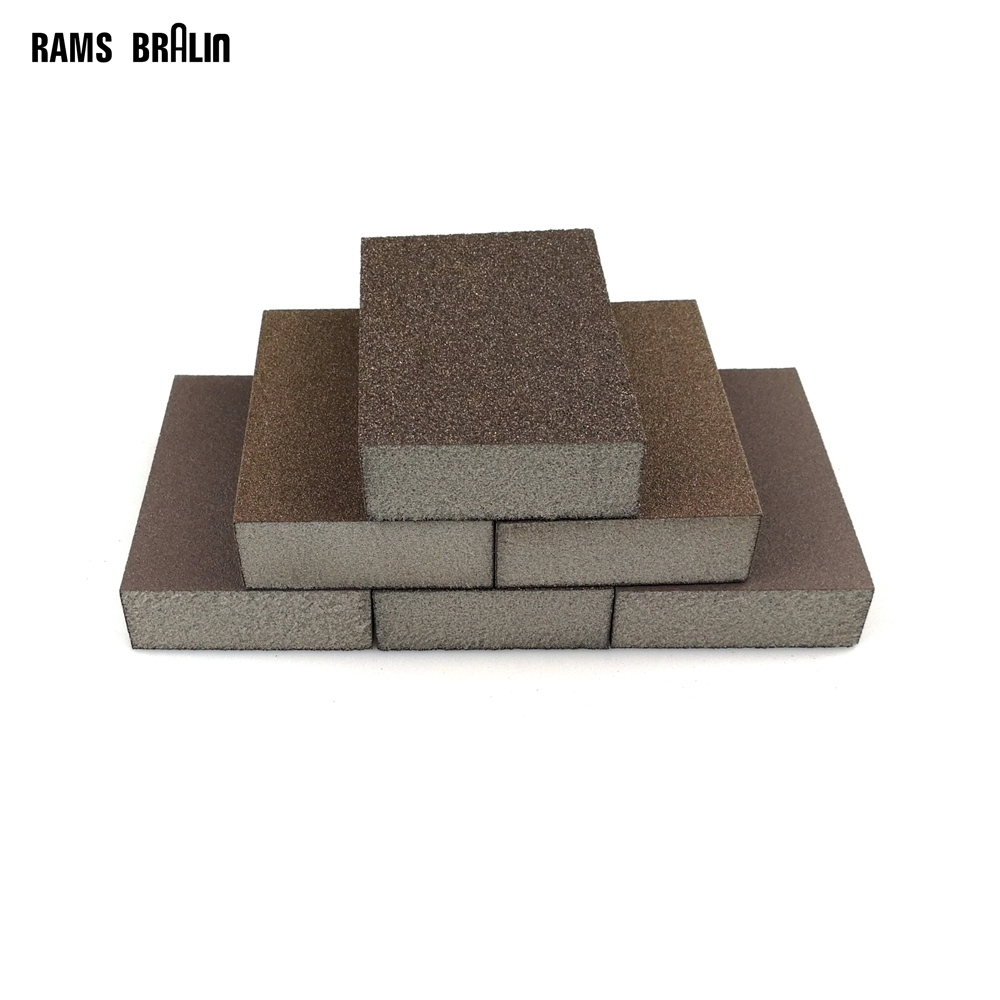 1 Piece Sanding Sponge Block Abrasive Pad P60 P80 P120 P180 For Furniture Wall Floor Grinding Kitchen Cleaning Hand Tool