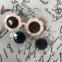 2017 New classic children baby girls boy kids sunglasses Polarized protection Kids Sun Goggles UV400 round