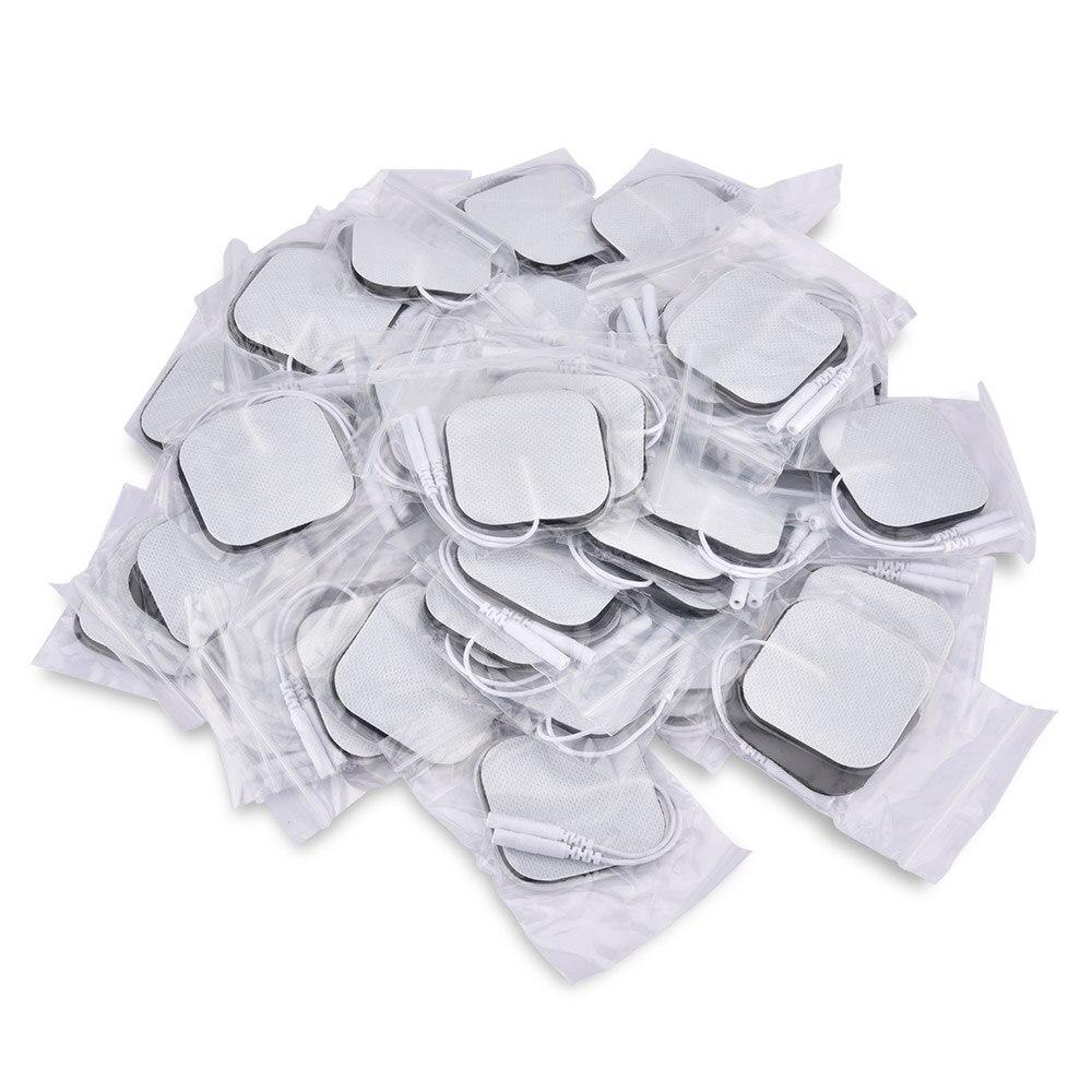 50 adet/100 adet Kendinden Yapışkanlı Değiştirme Onlarca Elektrot Pedleri Kare 4*4/5*5 cm kas Stimülatörü Elektrik Dijital Makine Masajı