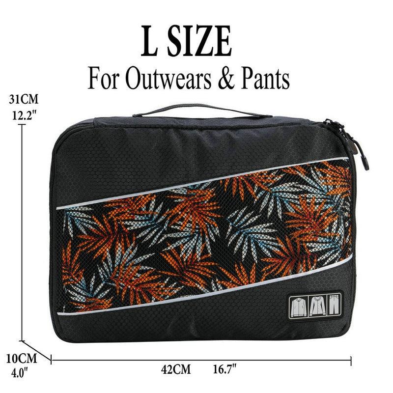 Soperwillton упаковочные кубики, нейлоновая дорожная сумка-Органайзер, Воздухопроницаемая сетчатая дорожная сумка для мужчин и женщин, органайзер для путешествий - Цвет: Black L