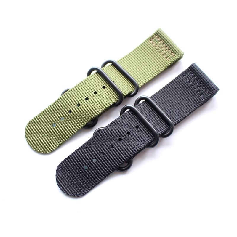 26mm Green Black Nylon Watchband Watch Strap Bracelet For Garmin Derek Fenix 3,4 Style To Choice survival nylon bracelet brown