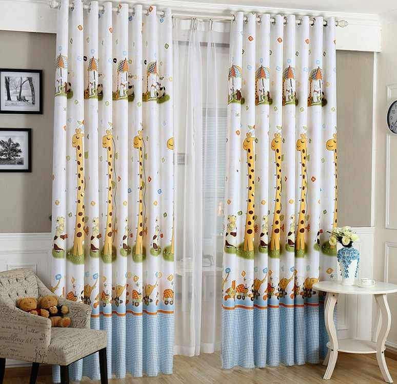 Animal Print Blackout Baby Infant Room Curtains Children S Boys Curtain For Bedroom Kids Soundproof Nursery Cortinas