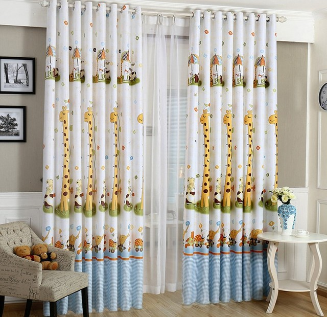 Animal Print Blackout Baby Infant Room Curtains Children S Boys Curtain For Bedroom Kids Soundproof Nursery