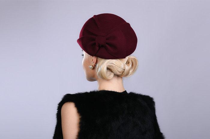 28223f677a883 Fibonacci Noble Elegant Women Wool Felt Beret Bride Headdress Fedora Hat  Dinner Party Wedding Hats. 11 12 ...