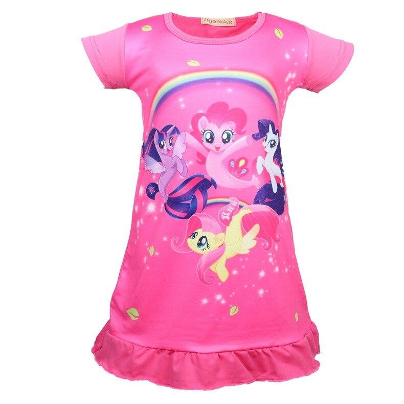 Useful God Beast Princess Dress Little Pony Summer Girls Dress Nightgown Kids Dresse Night Gown Pajamas Dress Sleepwear Pajamas Clothes Mother & Kids Girls' Clothing