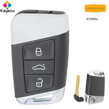 KEYECU Replacement Smart Remote Key With 3 Buttons & 434MHz   FOB for Volkswagen Magotan Superb A7 Passat B8 2015 2016 2017 2018