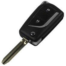 2014 замена Складной ключ 2 кнопки дистанционного ключа автомобиля Shell Для Toyota Corolla RAV4 до 2013 с логотипом