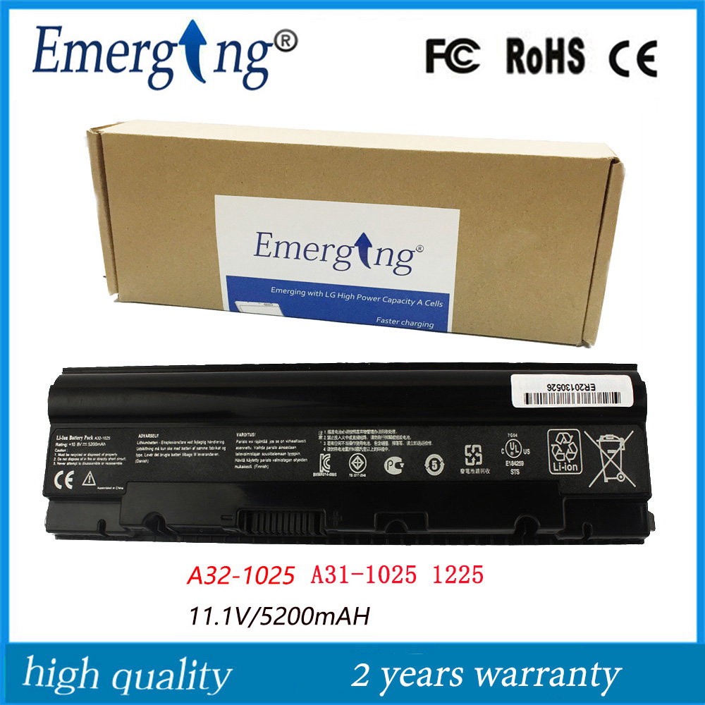 High Capacity Quality 11.1v 5200mah New Laptop Battery for ASUS Eee PC 1025 1025C 1025CE R052 1225 1225B 1225C R052C A32-1025